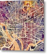 Washington Dc Street Map Metal Print