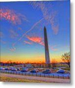 Washington Monument Sunset Metal Print