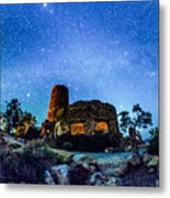 Watchtower Over The Grand Canyon   Arizona Metal Print