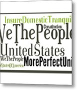We The People Of The United States Of America Metal Print