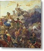 Westward The Course Of Empire Takes Its Way Metal Print