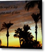 When The Night Is Long.... Metal Print