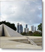 White City Statue, Tel Aviv, Israel Metal Print