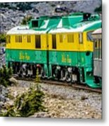 White Pass Mountains In British Columbia Metal Print