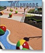 Wildwood's Sign, Boardwalk Wildwood, Nj. Copyright Aladdin Color Inc. Metal Print