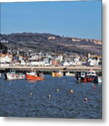 Winter Harbour - Lyme Regis Metal Print
