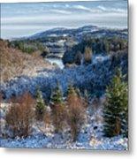 Winter Wonderland In Central Scotland Metal Print