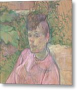 Woman In The Garden Of Monsieur Forest Metal Print