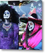2 Women Day Of The Dead  Metal Print