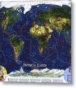 World Map Metal Print