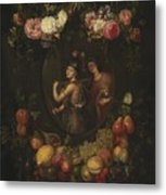 Wreath With Value And Abundance Metal Print