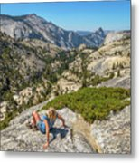 Yosemite National Park Hiking Metal Print