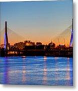 Zakim Bridge Metal Print
