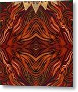 Zebra And Jewels Metal Print