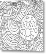 Zendoodle Design Metal Print