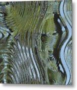 Alien Fluid Metal Metal Print