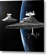 Star Wars The Trilogy Art Metal Print