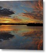 20- Sunset At Burnt Bridge Metal Print