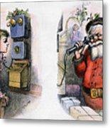 Thomas Nast: Santa Claus Metal Print