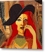 200 - Woman With Black Hat .... Metal Print