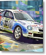 2002 Slovnaft Valasska Rally Toyota Celica Gt Four Liska Jugas  Metal Print