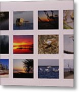 2008 Calendar Back Of Gulf Views Edition Metal Print