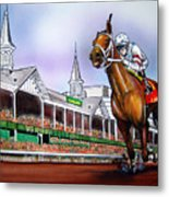 2008 Kentucky Derby Winner Big Brown Metal Print