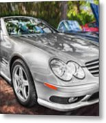 2008 Mercedes Benz Sl500 V8 Coupe Painted   Metal Print