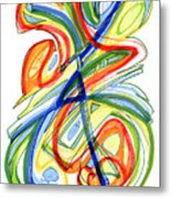 2010 Abstract Drawing Eight Metal Print