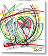 2010 Abstract Drawing Eighteen Metal Print