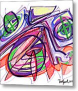2010 Abstract Drawing Eleven Metal Print