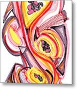 2010 Abstract Drawing Nine Metal Print