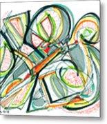 2010 Abstract Drawing Seventeen Metal Print