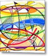 2010 Abstract Drawing Sixteen Metal Print