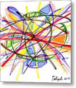 2010 Abstract Drawing Twelve Metal Print