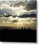 2010 June 4 Sunset Over Denver Metal Print