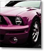 2010 Pink Ford Cobra Mustang Gt 500 Metal Print