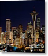 2010 Seattle Earth Hour A350 Metal Print