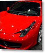 2011 Ferrari 458 Italia . 7d9397 Metal Print by Wingsdomain Art and Photography