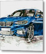 2014 B M W 2 Series Coupe With 3d Badge Metal Print