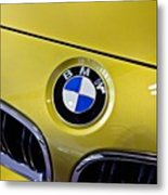 2015 Bmw M4 Hood Metal Print by Aaron Berg