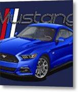 2015 Blue Mustang Metal Print