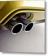 2015 Bmw M4 Exhaust Metal Print by Aaron Berg