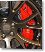 2015 Dodge Challenger Srt Hellcat Wheel Metal Print