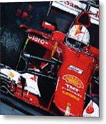 2015 F1 Ferrari Sf15-t Vettel Metal Print