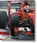 2015 Hungary Gp Ferrari Sf15t Vettel Winner Metal Print