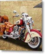 2015 Indian Chief Vintage Motorcycle - 1 Metal Print