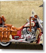 2015 Indian Chief Vintage Motorcycle - 2 Metal Print