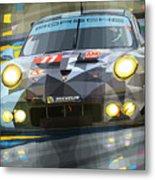 2015 Le Mans Gte-am Porsche 911 Rsr Metal Print