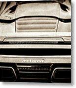 2015 Mclaren 650s Spider Rear Emblem -0011s Metal Print